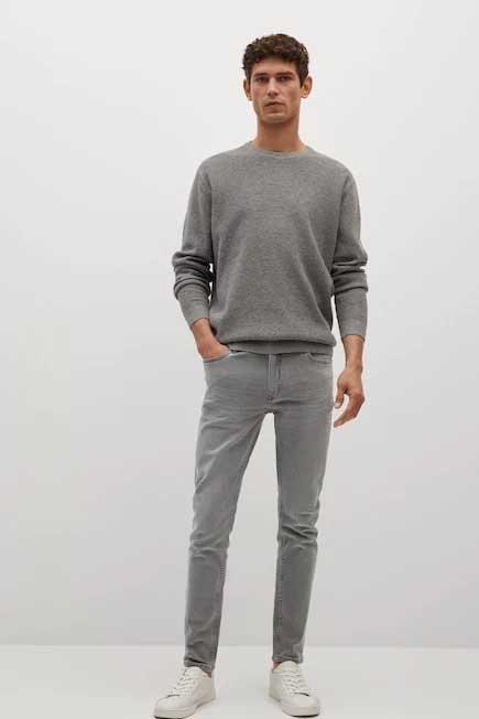 Mango - Open Grey Skinny Grey Jude Jeans, Men