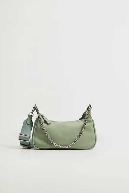Mango - turquoise - aqua Multi-position baguette bag, Women