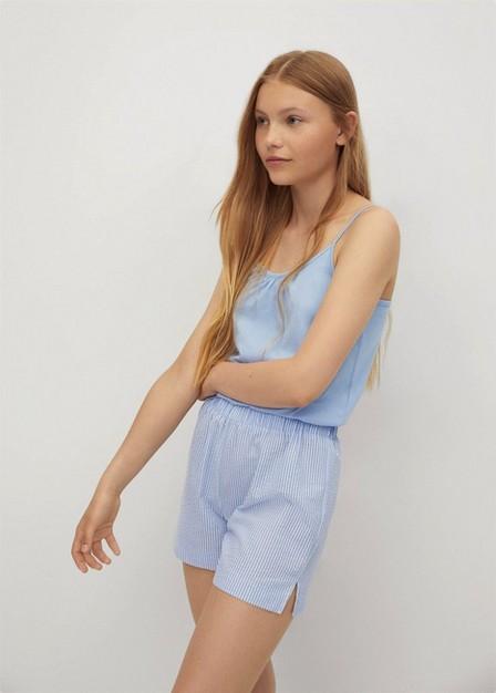 Mango - lt-pastel blue Short cotton pyjamas, Kids Girl