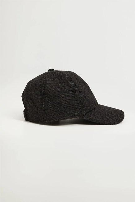 Mango - Dark Grey Cap With Visor, Women