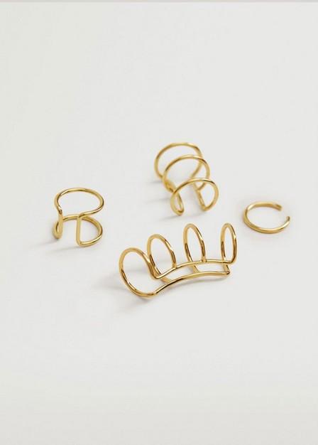 Mango - gold Mixed earring set, Women