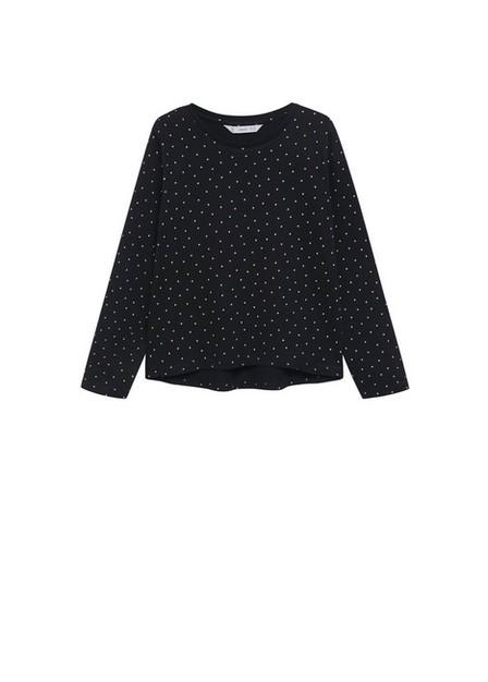 Mango - black Printed long sleeve t-shirt, Kids Girl