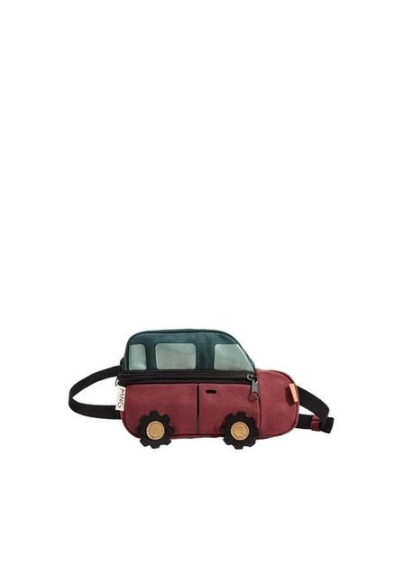 Mango - Dark Red Car Design Belt Bag, Baby Boy