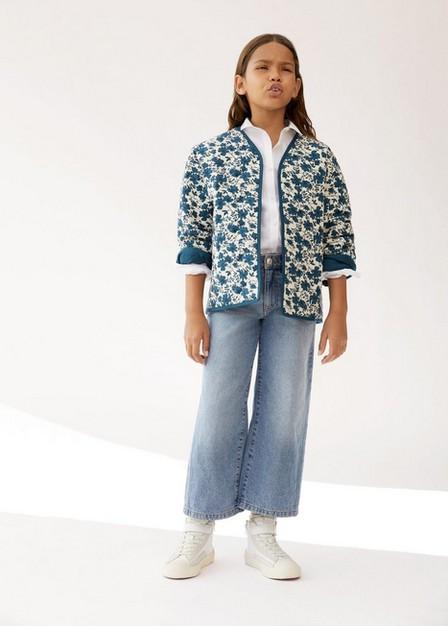 Mango - natural white Printed quilted jacket, Kids Girl