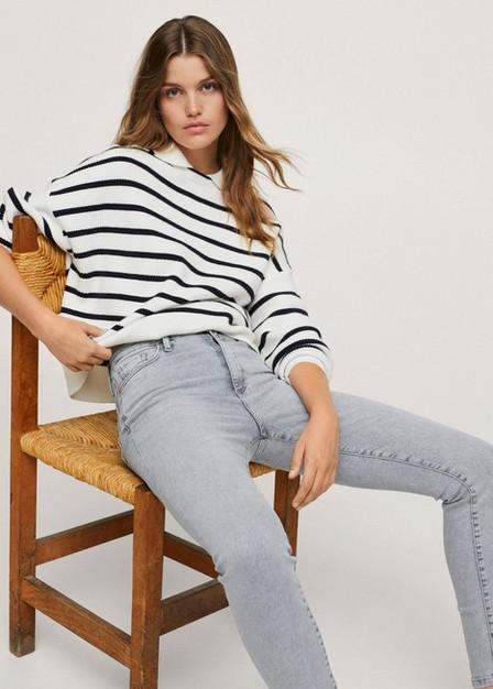 Mango - open grey High-rise skinny jeans, Women