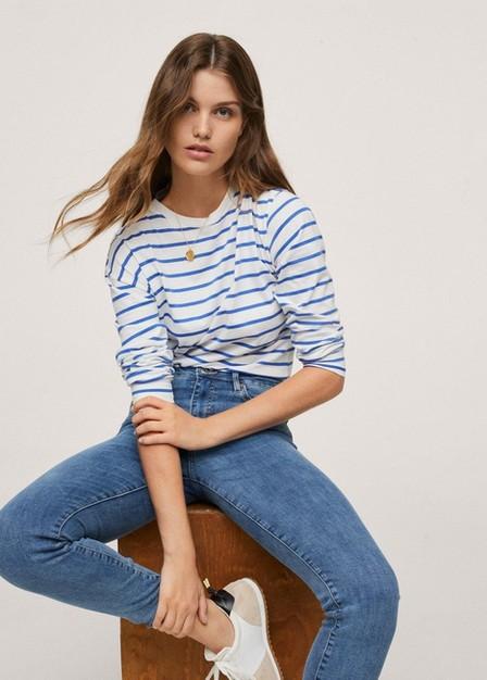 Mango - open blue High-rise skinny jeans, Women