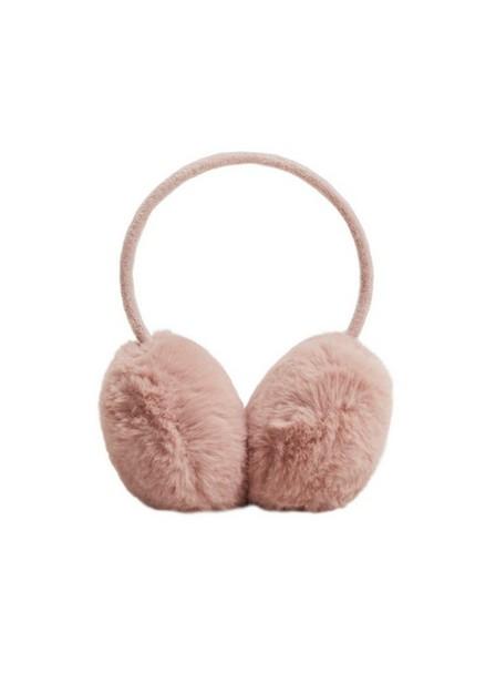 Mango - lt-pastel pink Faux fur earmuffs, Kids Girl