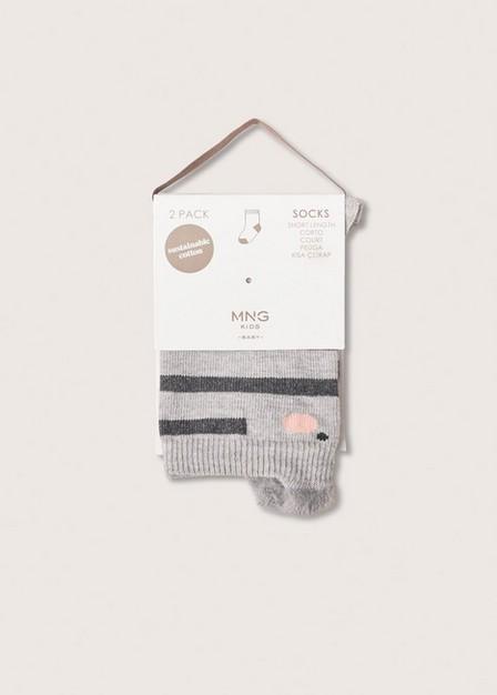 Mango - Medium Grey 2 Pack Knee-Length Socks, Baby Girl
