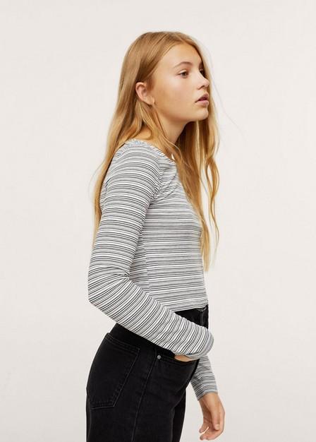 Mango - natural white Striped long sleeves t-shirt, Kids Girl