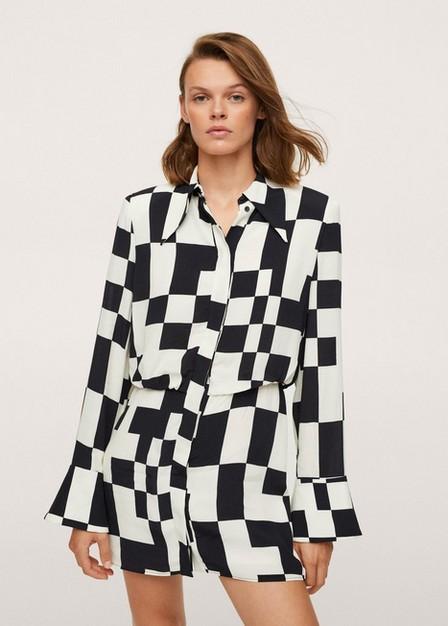 Mango - Light Beige Button Shirt Dress, Women