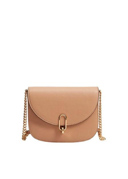 Mango - lt-pastel pink Flap pebbled bag, Women