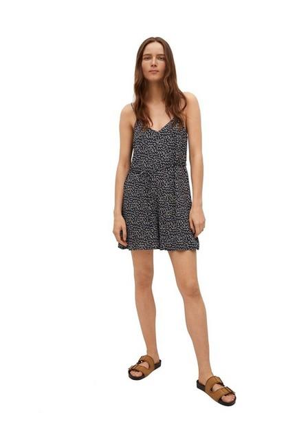 Mango - navy Floral print jumpsuit, Women