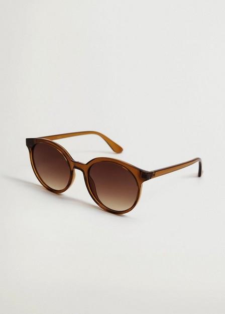 Mango - lt-pastel orange Rounded sunglasses, Women
