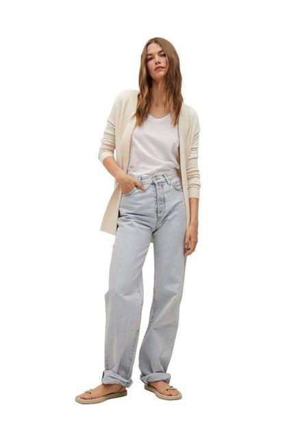Mango - Lt-Pastel Grey Fine-Knit Cardigan, Women