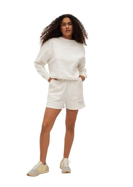 Mango - White Message Cotton Sweatshirt, Women