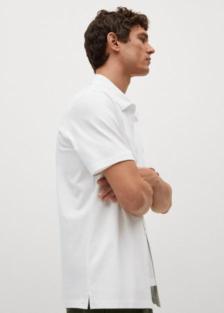 Mango - Natural White Regular-Fit Technical Shirt, Men