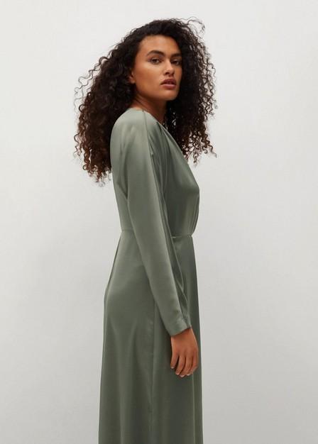 Mango - lt pastel grey Flowy midi dress, Women
