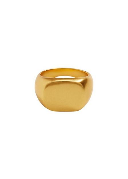Mango - gold Metallic seal ring, Women