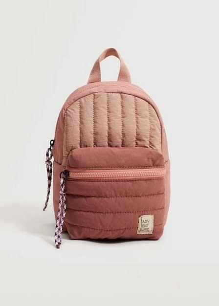 Mango - Lt-Pastel Pink Mini Nylon Backpack, Baby Girl
