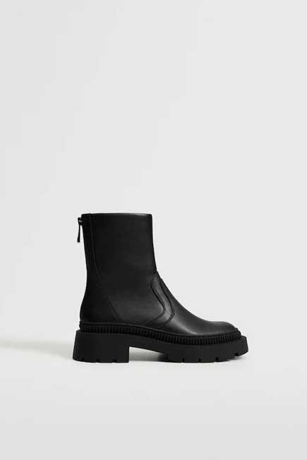 Mango - black Track outsole boots, Women