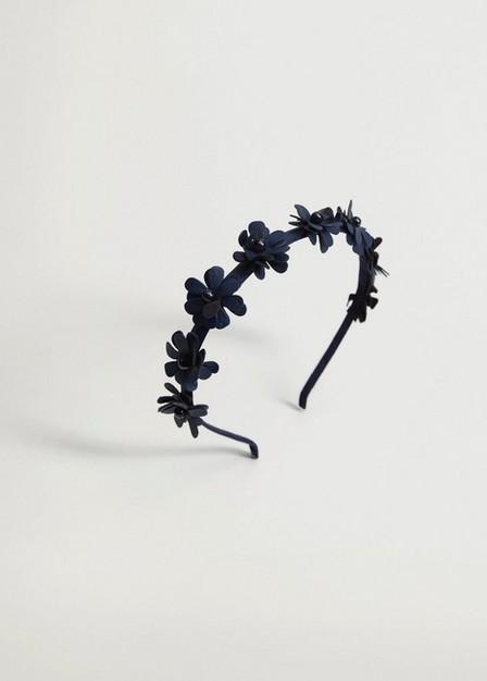 Mango - Navy Flower Hairband, Kids Girl