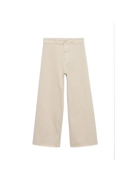 Mango - light beige Cropped wide-leg jeans, Kids Girl