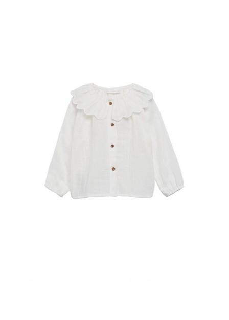 Mango - Natural White Babydoll Collar Blouse, Baby Girl