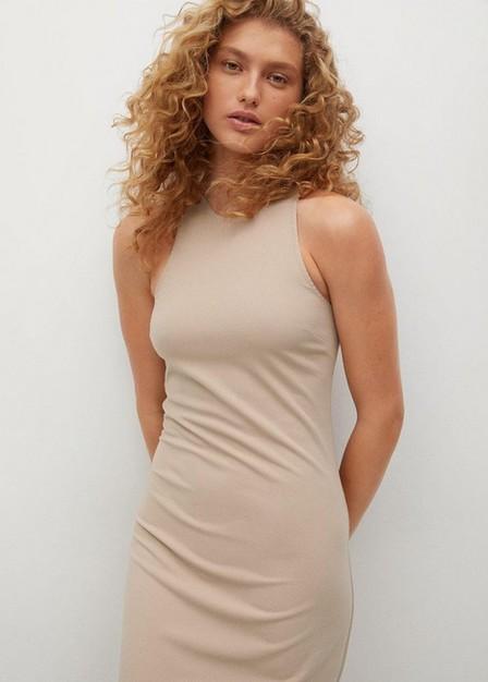 Mango - medium brown Cut-out bodycon dress, Women