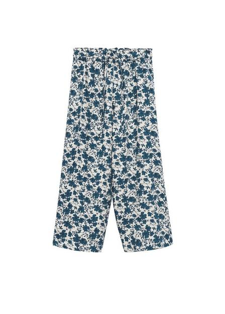 Mango - natural white Flower culottes trousers, Kids Girl