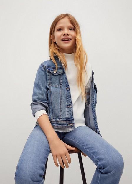 Mango - natural white Ribbed long-sleeved t-shirt, Kids Girl