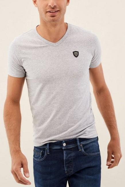 Salsa Jeans - Grey Slim T-shirt With Badge, Men