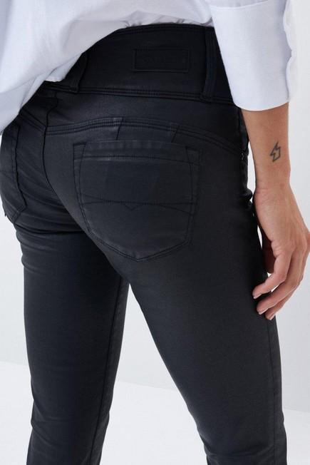 Salsa Jeans - Black Mystery push up skinny jeans in dark coating