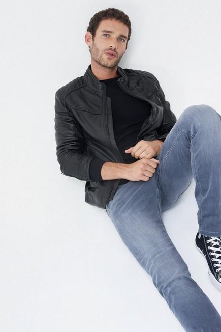 Salsa Jeans - Black Leather biker jacket