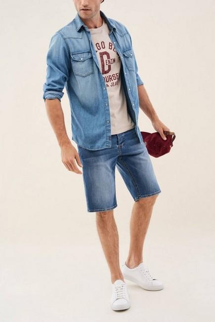 Salsa Jeans - Blue Loose shorts in light denim