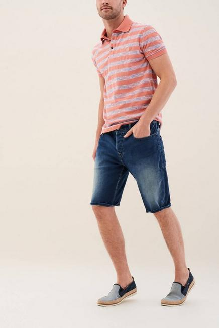 Salsa Jeans - Blue Loose Denim Overdyed Shorts, Men