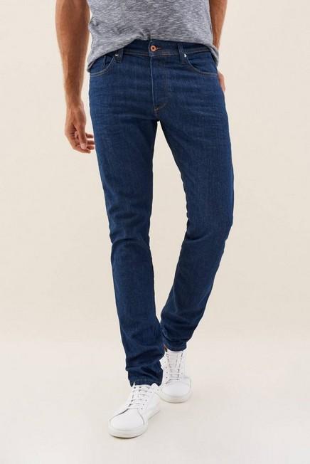 Salsa Jeans - Blue Lima tapered jeans in medium-dark blue