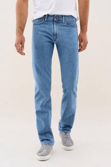 Salsa Jeans - Light Blue Navarro Straight Jeans Light Rinse With Zip, Men