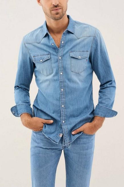 Salsa Jeans - Blue Slim fit denim shirt