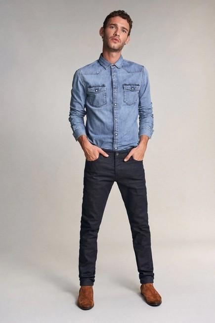 Salsa Jeans - Blue Slender slim carrot jeans in dark blue