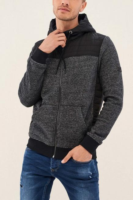 Salsa Jeans - Black Knitted Cardigan With Hood, Men