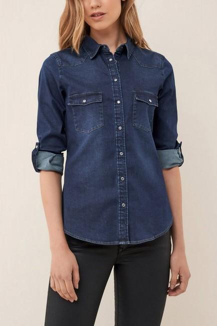 Salsa Jeans - Blue Basic Denim Shirt, Women