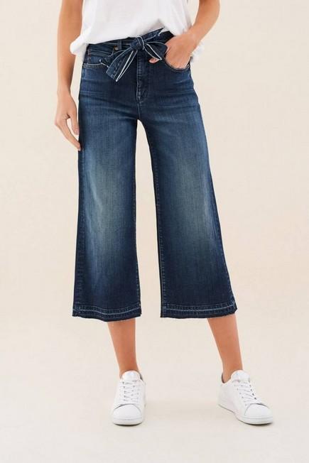 Salsa Jeans - Blue Secret Glamor Push In Capri Culotte, Women