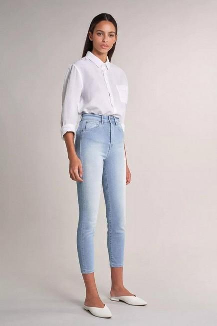 Salsa Jeans - Blue Elegant cropped light jeans