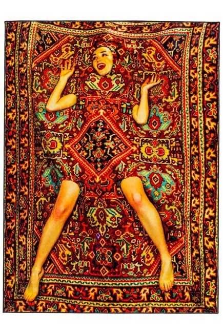 Seletti - Toiletpaper Rug Lady On Carpet