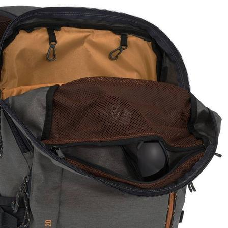 QUECHUA - 20L  Country Walking Backpack - NH500 - 20 Litres, Khaki Grey