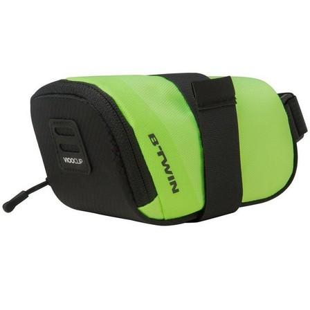 BTWIN - Unique Size  500 Bike Saddle Bag M 0.6L, Fluo Lime Yellow