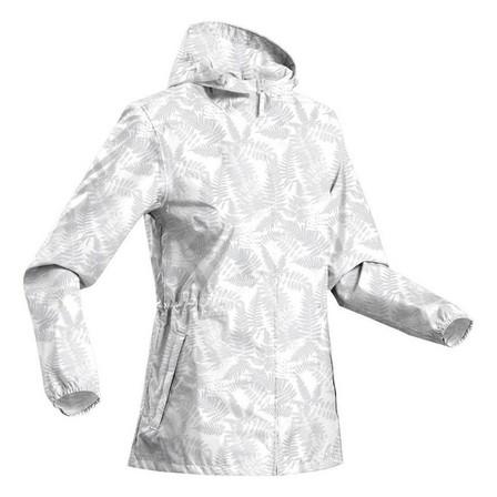 QUECHUA - Extra Small  Women's Country Walking Waterproof Jacket Raincut Zip, White