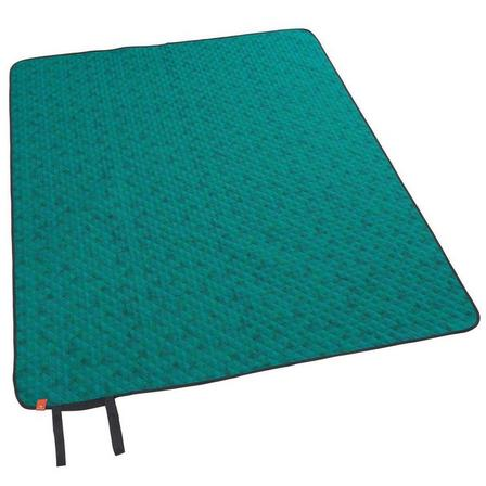 QUECHUA - Unique Size  Camping and Hiking Blanket - 140 x 170 cm, Caribbean Green