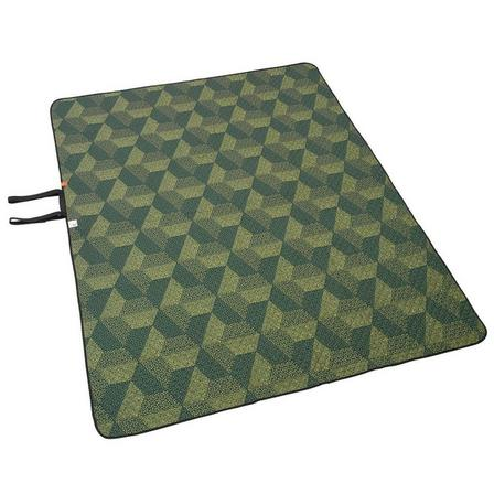 QUECHUA - Unique Size  Large Camping and Walking Rug - XL 170 x 210 cm, Dusty Green