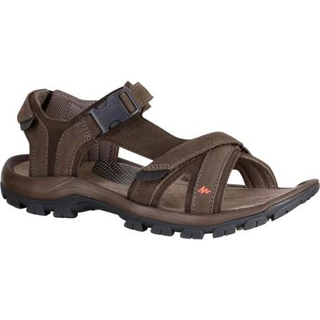 QUECHUA - EU 46  Men's Hiking sandals NH120, Walnut Brown